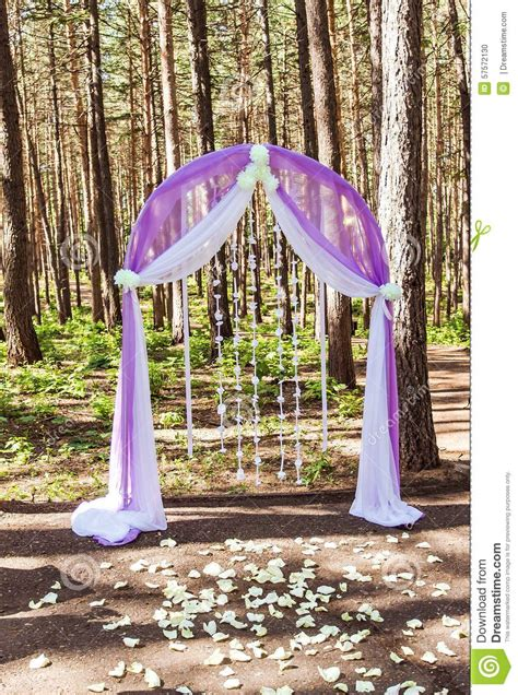 Wedding Arch Purple by Purple Wedding Arch Stock Photo Image Of Caterer