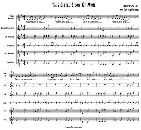 Song This Light Of Mine by This Light Of Mine Orff Arrangement Tom S Orff