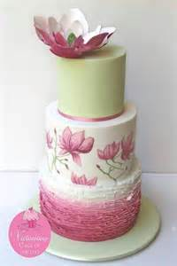 Lotus Flower Wedding Green Wedding Cake With Pink Ombr 233 Ruffles