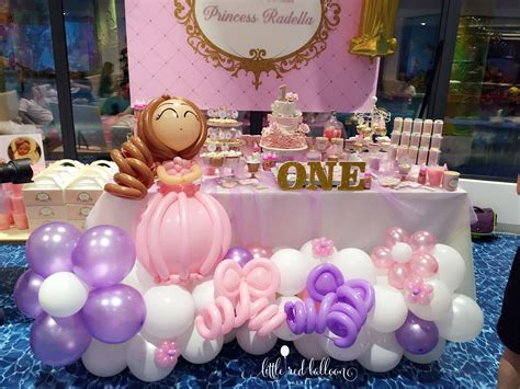 themed birthday party singapore little red balloon princess party decorations in