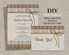 burlap lace bridal shower invitation printable by
