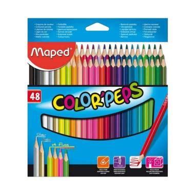 Set Warnabox jual maped color pep s cardboard box set pensil warna 48 pcs harga kualitas