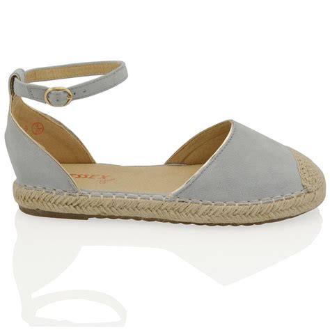 Sandal Flat Wadges Sendal Jepit Sendal Casual Ltv 727 womens espadrilles ankle flat sandals summer casual shoes ebay