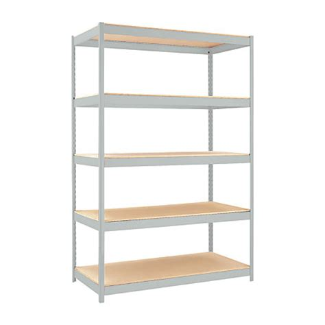 hirsh industries 1500 series steel shelving 5 shelves gray