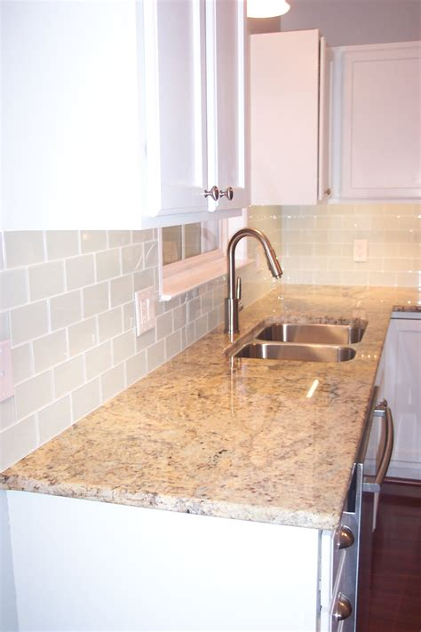 glass subway tile projects before amp after pictures
