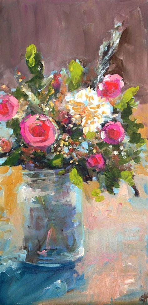best 25 acrylic painting flowers ideas on painting flowers painting flowers