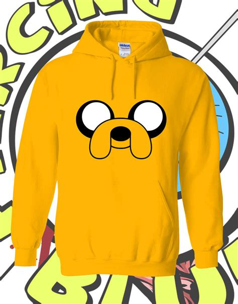 Adventure Time Design Hoodie jake adventure time hoodie yellow mens hooded inspired hoody