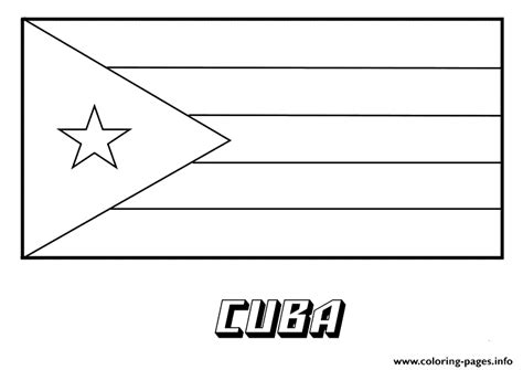 Cuba Flag Coloring Pages Printable Cuba Flag Coloring Page
