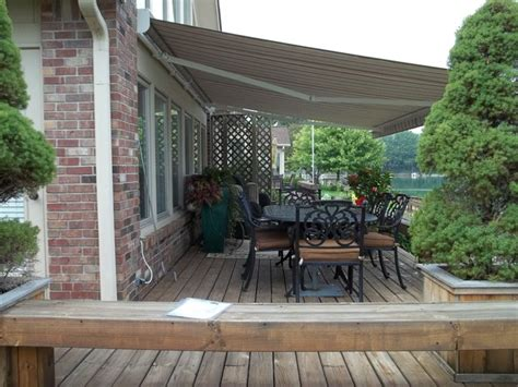 retractable awnings indianapolis patio retractable awnings traditional deck