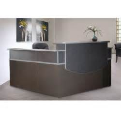 L Shaped Receptionist Desk Mayline Cst27 Csii L Shaped Reception Desk With Pedestal