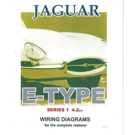 jaguar e type series 1 4 2 litre wiring diagram book