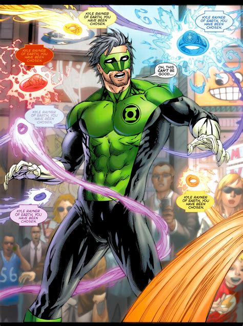 kyle rayner is chosen by all 7 rings comicnewbies