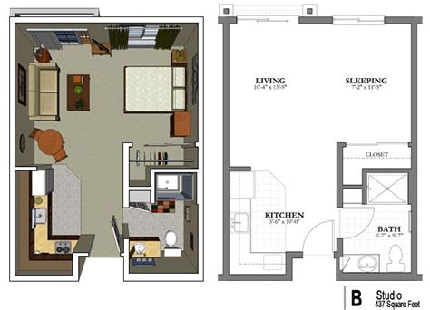 House Plans With Mil Apartment by 25 Best Ideas About Studio Apartment Floor Plans On