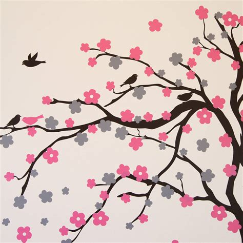 floral wall stickers floral blossom tree wall stickers by parkins interiors