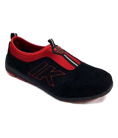 ncs black slip on running sports shoes for price in