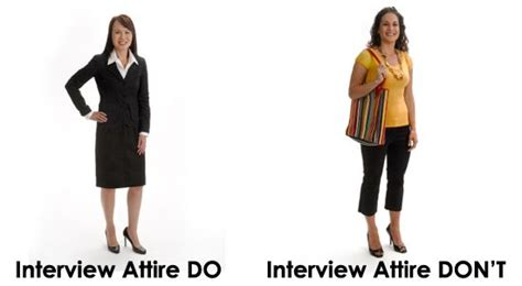what to wear to a job interview 7 tips for women over 40 ladies this image demonstrates the difference between an