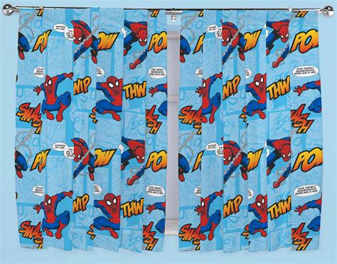 spiderman curtains uk ultimate spiderman thwip curtains 66 quot x 54 quot or 66 quot x 72