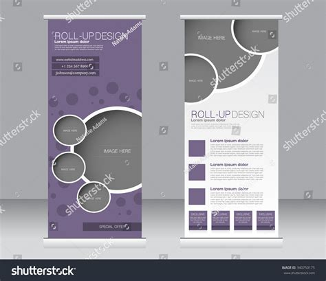 roll banner stand template abstract background stock
