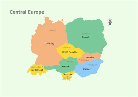 map of central europe map central europe thefreebiedepot