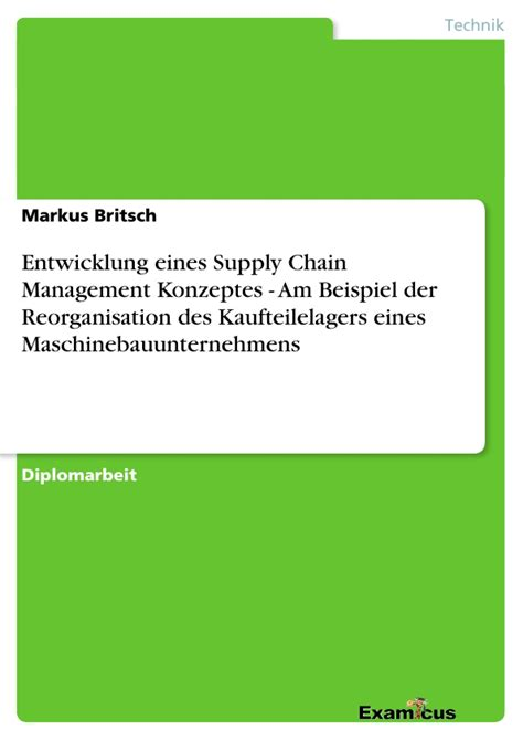 Anschreiben Praktikum Supply Chain Management Supply Chain Management M 228 Rz 2014