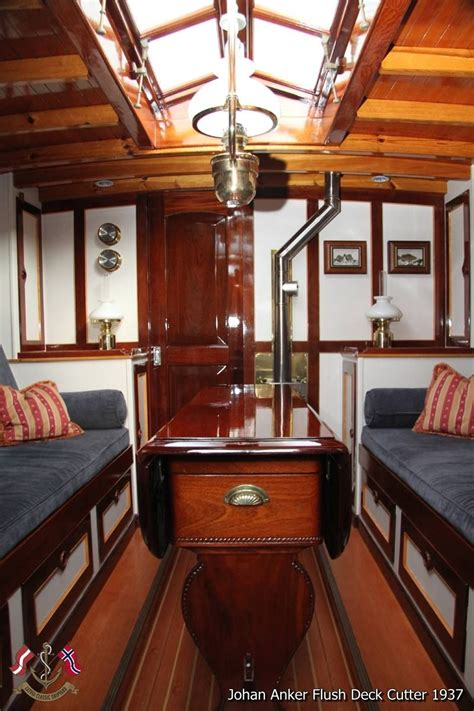 beautiful sailing yacht interior  johan ankers flush