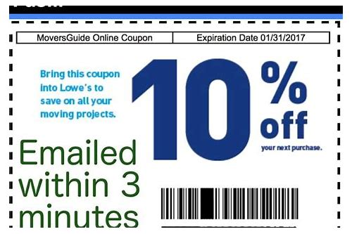 lowes coupons 20 printable 2018