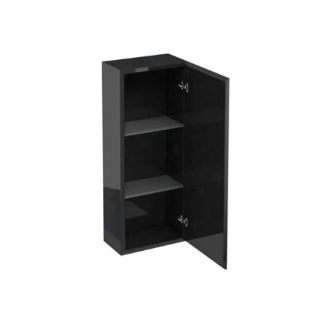 Black Bathroom Storage Cabinet Aqua Cabinets 300mm Black Wall Cabinet Bathroom Cabinet