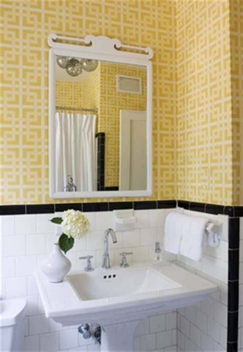 j adore decor black and yellow bathroom