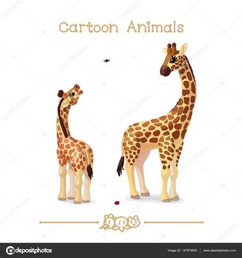 imagenes de jirafas en familia serie de caricaturas de dibujos animados animales padre