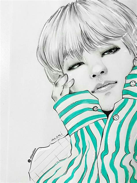 V Sketch Bts by Af My Boy Bts Fanart And Kpop