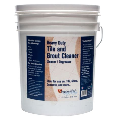 bathroom grout cleaner traction wash 5 gal heavy duty tile and grout cleaner