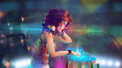 wallpaper girl dj 2048x1152 anime dj girl 2048x1152 resolution hd 4k