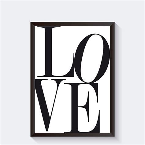 tekst poster zwart wit interieurposter zwart wit met grafische tekst love quote