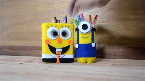 Paketan Plastik Es Pensil Dan Botol tutorial kotak pensil lucu dari kotak dan botol bekas