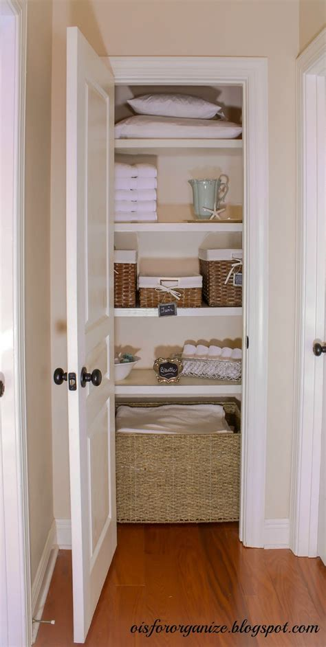 Linen Closet by O Is For Organize Linen Closet Reveal