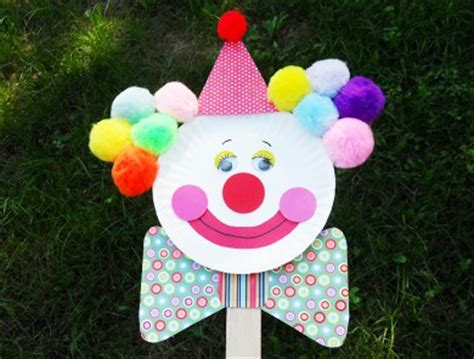 How To Make A Paper Clown - clown puppet on a stick ganz parent club