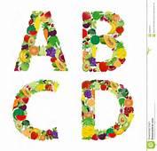 Letra Del Alfabeto De La Fruta Y Verdura Ejemplo