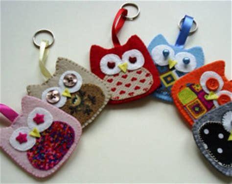 Handmade Fabric Keyrings - popular items for owl keychain on etsy