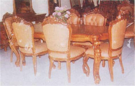 meja kursi makan jati ukiran jepara ganesa 1 set ud