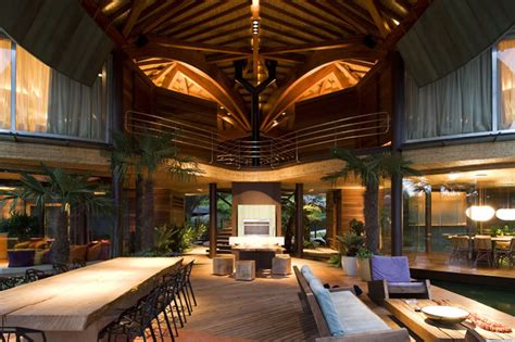 leaf house unusual tropical house design leaf house in brazil digsdigs