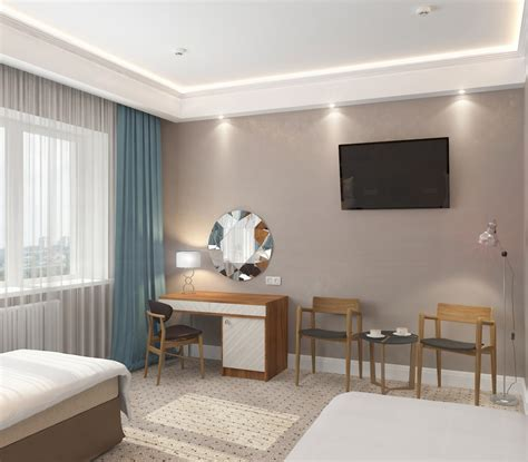 3d rooms quot standard quot rooms in the hotel design and visualization