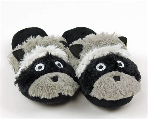 skunk slippers raccoon slippers animal slippers lazy one slippers