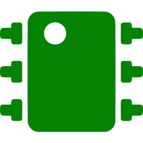 integrated circuit icon green integrated circuit icon free green integrated