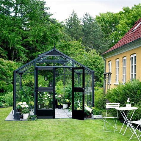 destockage serre jardin serre de jardin 8 8m 178 anthracite et verre horticole premium juliana