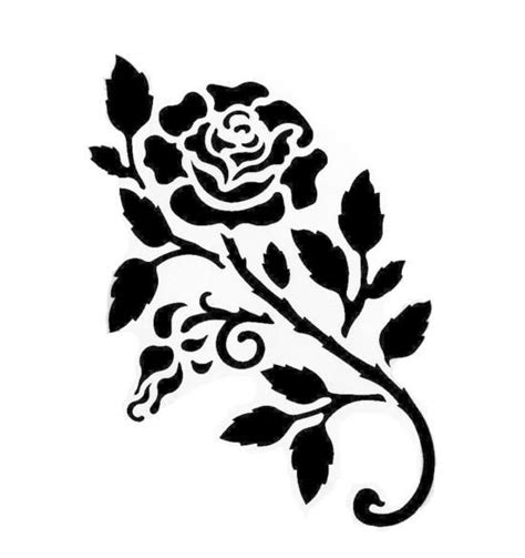 rose stencil craft yudu pinterest
