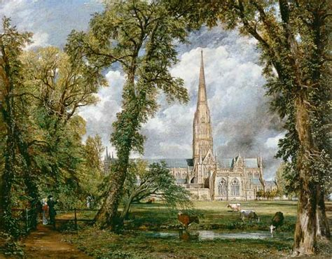 by john constable salisbury cathedral salisbury cathedral from the bishop s garden oil