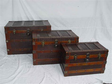 wooden trunk pin antique wooden trunk box wood on