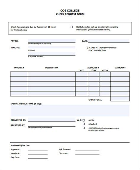 check request forms   ms word