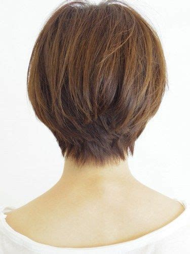 back view of short hair for mature and grey hair cute short hair back view beauty short hairstyles