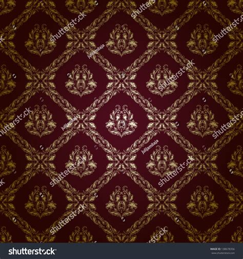 brown royal pattern damask seamless floral pattern royal wallpaper stock